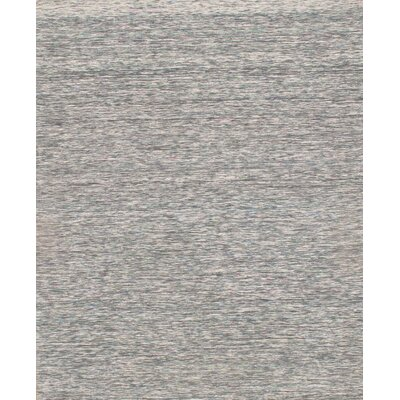 Sari Modern Flat Weave Hand-Knotted Silk Gray Area Rug