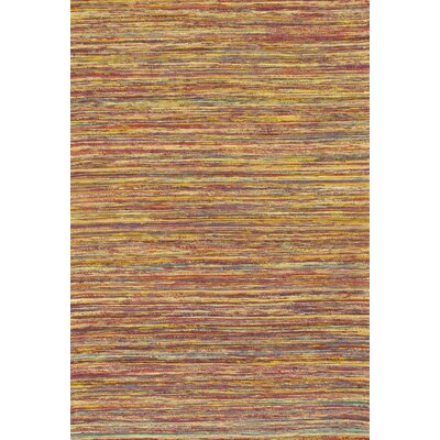 Modern Flat Hand-Knotted Sari Silk Brown Area Rug