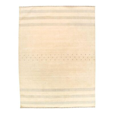 Gabbeh Loribaft Hand-Knotted Wool Ivory Area Rug
