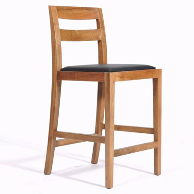 Big Sur 30.5 Bar Stool Upholstery: Black