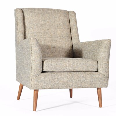Grace Wing back Chair Color: Mineral
