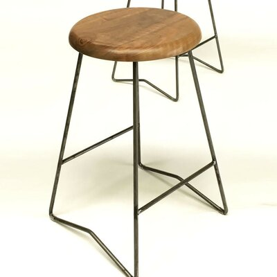 25.5 Bar Stool Upholstery: Natural Walnut