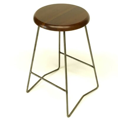 25.5 Bar Stool Upholstery: Medium Walnut
