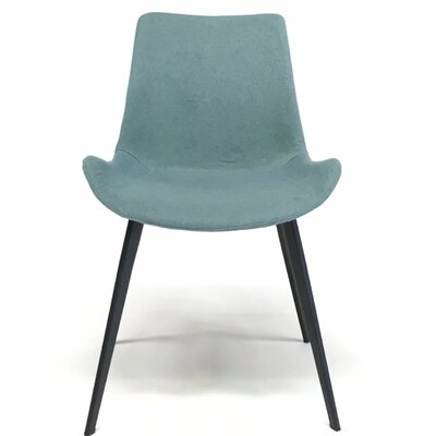 Dover Contermporary Dining Chair Upholstery: Blue
