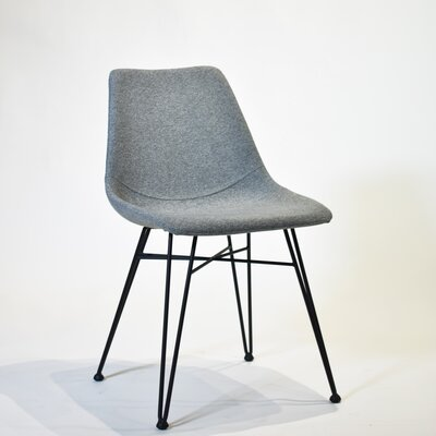 Odette Side Chair Upholstery Light Gray Fabric Dining Room Side Chair