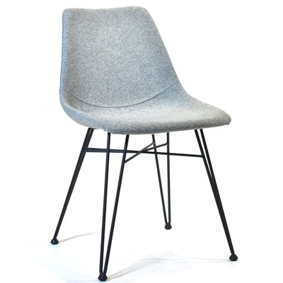Odette Side Chair in Light Gray Fabric