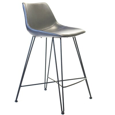 Odette 25 Bar Stool Upholstery: Dark Gray