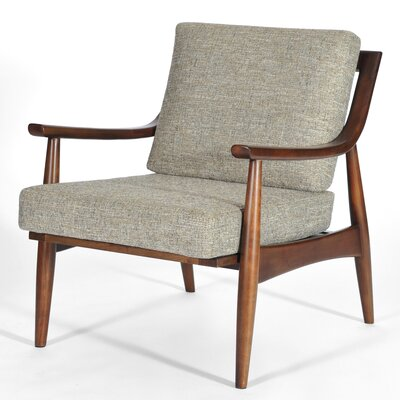 Adam Armchair Finish: Medium Walnut, Upholstery: Mineral