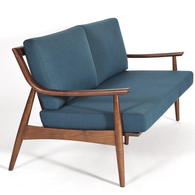 Adam Loveseat Upholstery: Azure