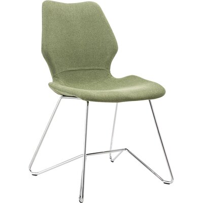 Luka Dining Chair Upholstery: Grass Green