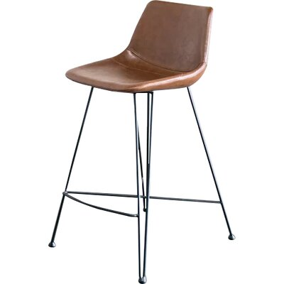 Odette 25 Bar Stool Upholstery: Brown