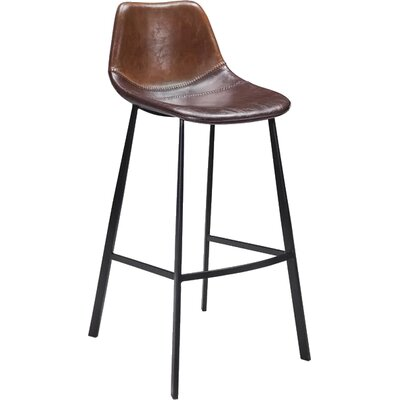 Pablo 24 Bar Stool Finish: Brown