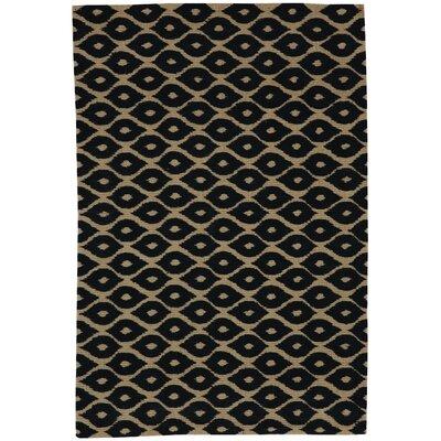 Bella Hand-Woven Black/Tan Area Rug