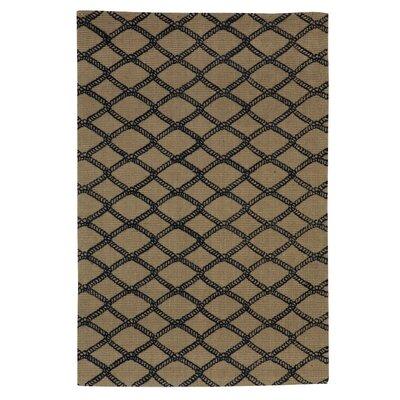 Marina Hand-Woven Taupe/Black Area Rug