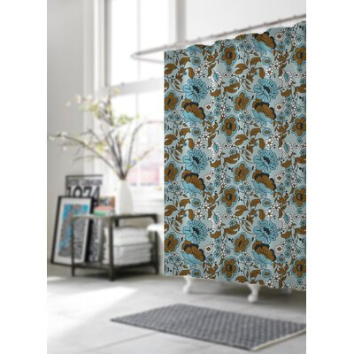 Shower Curtain Color: Flora Blue