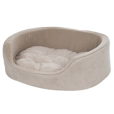 Microsuede Pet Bed Bolster with Zippered Closure Size: Medium (21 L x 26 W), Color: Clay