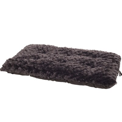 Cecile Pet Pillow with Polyfiber Padding Size: Small (29 W x 18 D x 3 H), Color: Chocolate