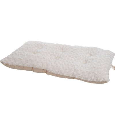 Pet Bed Pillow with Polyfiber Padding Color: Latte, Size: Large (39 L x 26 W)