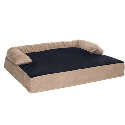 Orthopedic Memory Foam Pet Bolster Bed with Removable Plush Memory Foam Size: Medium (35.5