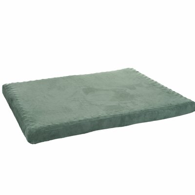 Edwin Foam Pet Pad with Zippered Cover Size: Large (44 W x 35 D x 3 H), Color: Forest