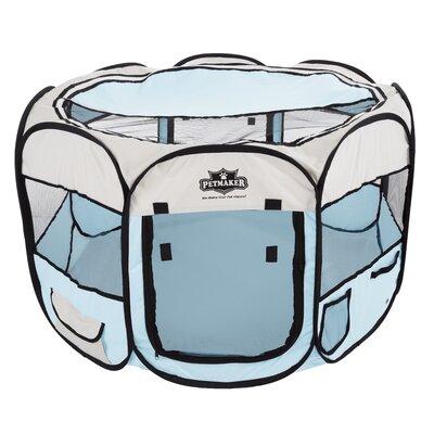 Portable Pop Up Play Pet Pen Color: Blue, Size: 15.5 H x 33 W x 33 D