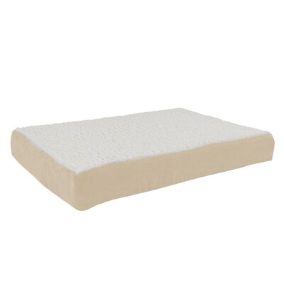Orthopedic Sherpa Memory Foam Dog Mat Size: Medium (30 W x 20.5 D), Color: Tan