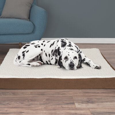Orthopedic Sherpa Memory Foam Dog Mat Size: Extra-Large (4 H x 44 W x 35 D), Color: Brown