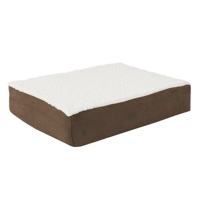 Orthopedic Sherpa Memory Foam Dog Mat Size: Small (20 W x 15 D), Color: Brown