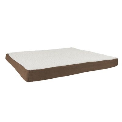 Orthopedic Sherpa Memory Foam Dog Mat Size: Extra-Large (44 W x 35 D), Color: Brown