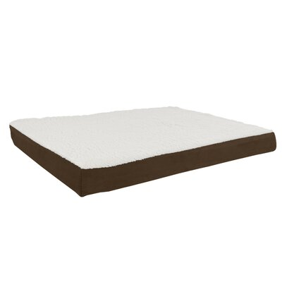 Orthopedic Sherpa Memory Foam Dog Mat Size: Large (36 W x 27 D), Color: Brown