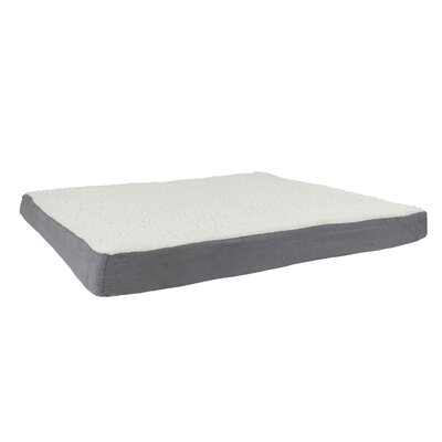 Orthopedic Sherpa Memory Foam Dog Mat Size: Extra-Large (44 W x 35 D), Color: Gray