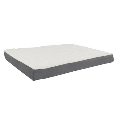 Orthopedic Sherpa Memory Foam Dog Mat Size: Large (36 W x 27 D), Color: Gray