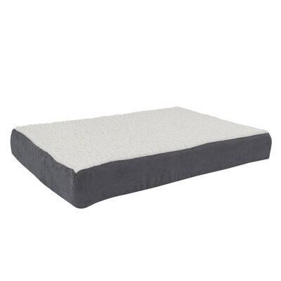 Orthopedic Sherpa Memory Foam Dog Mat Size: Medium (30 W x 20.5 D), Color: Gray