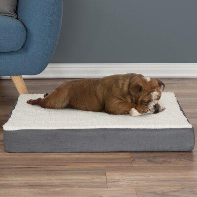 Orthopedic Sherpa Memory Foam Dog Mat Size: Medium (4 H x 30 W x 20.5 D), Color: Gray