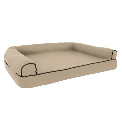 Orthopedic Dog Bolster Size: Large (42 W x 28 D), Color: Tan