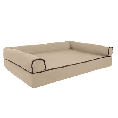 Orthopedic Dog Bolster Size: Medium (35.5 W x 24 D), Color: Tan