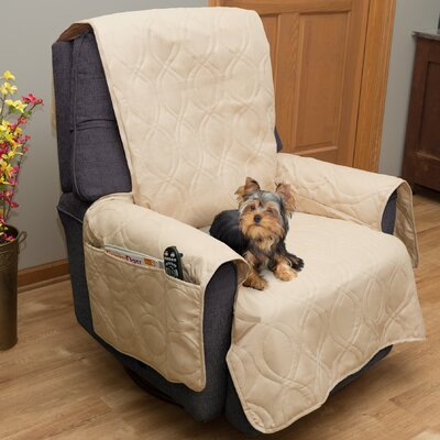 Waterproof Quilted Polyester Armchair Slipcover Upholstery: Tan
