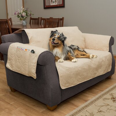 Waterproof Quilted Polyester Loveseat Slipcover Upholstery: Tan