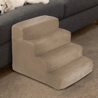 4 Step Foam Pet Stairs Color: Tan