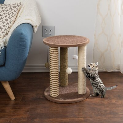 Keefe Triple Cat Scratchers and Scratching Post