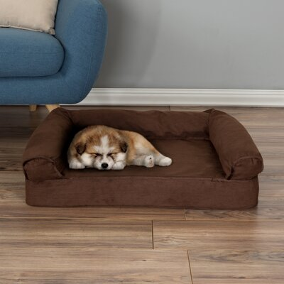 Orthopedic Dog Bolster Size: Small (30 W x 20.5 D x 7.5 H), Color: Brown