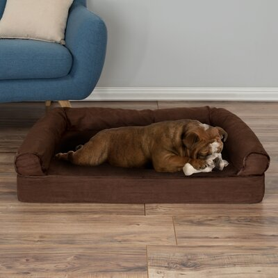 Orthopedic Dog Bolster Size: Medium (35.5 W x 24 D x 7.5 H)), Color: Brown