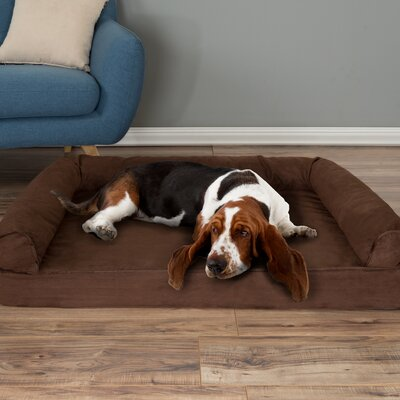 Orthopedic Dog Bolster Size: Large (42 W x 28 D x 7.5 H)), Color: Brown