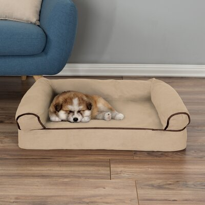 Orthopedic Dog Bolster Size: Small (30 W x 20.5 D x 7.5 H), Color: Tan