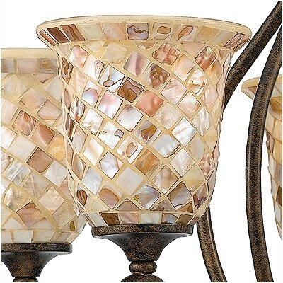 Monterey Mosaic 5-Light Shaded Chandelier