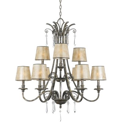 Kendra 9-Light Shaded Chandelier