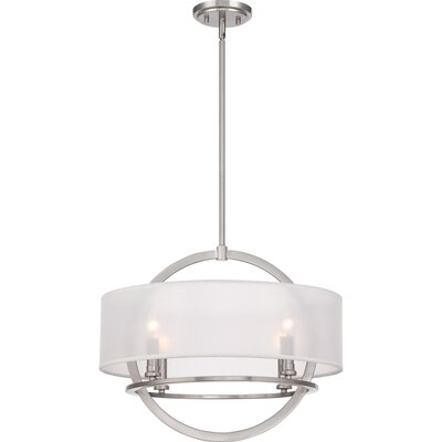 Caley 4-Light Drum Pendant Finish: Brushed Nickel