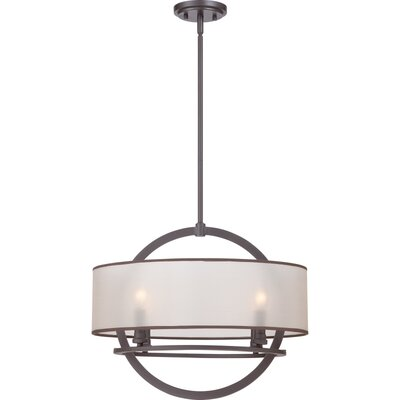 Caley 4-Light Drum Pendant Finish: Western Bronze