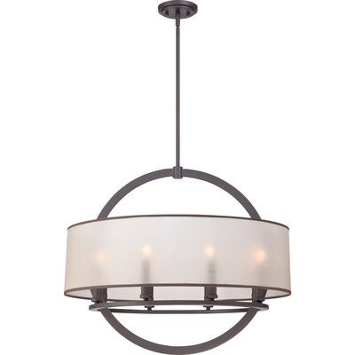 Portland 8-Light Drum Pendant Finish: Western Bronze