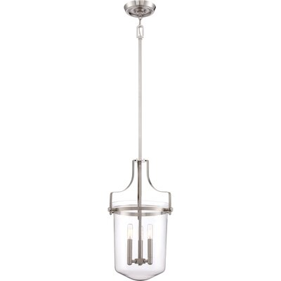 Uptown Penn Station 3-Light Mini Pendant Finish: Brushed Nickel